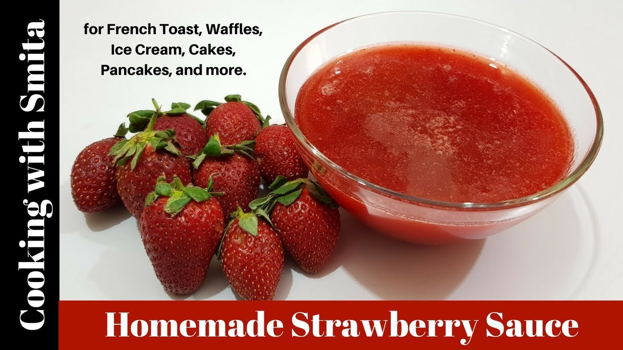 how to make strawberry sauce without cornstarch