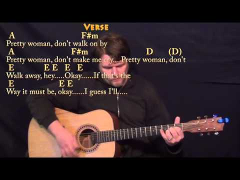 Pretty Woman (Roy Orbison) Guitar Lesson Chord Chart