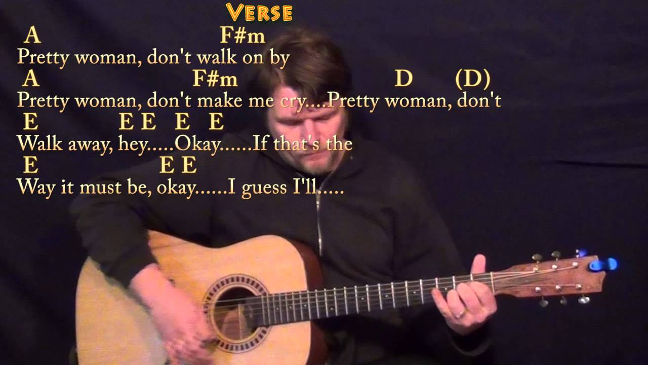 Pretty Woman Roy Orbison Guitar Lesson Chord Chart