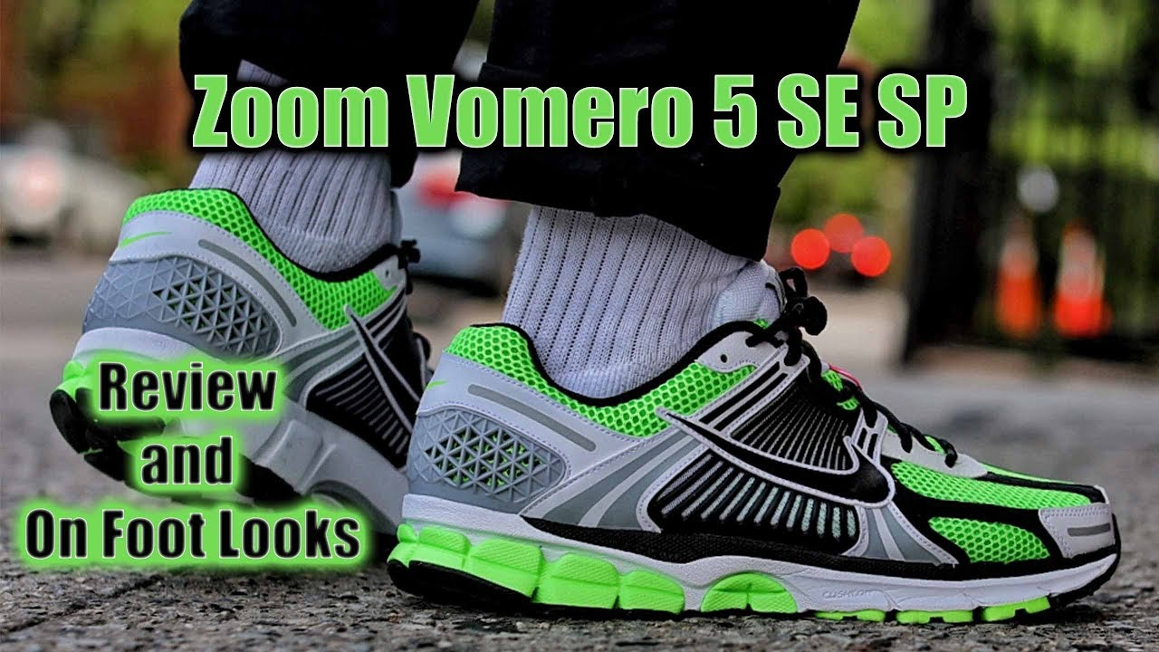 adiacente Adulto televisore  Nike Zoom Vomero 5 SE SP Review And On Foot Looks - YouTube