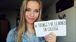 10 things I learned my first semester of college // my advice to you thumbnail