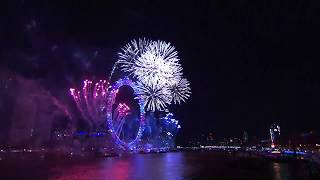 Amazing New Year 2018 Fireworks in London HD Drone