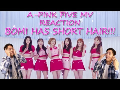 BOMI HAS SHORT HAIR!!!!Apink 에이핑크 'FIVE' M-V - REACTION VIDEO