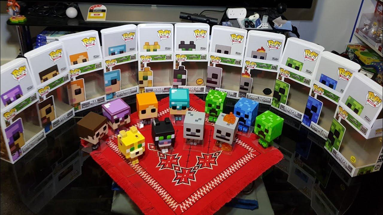 Unboxing Minecraft Funko Pop Vinyl Figures Chase