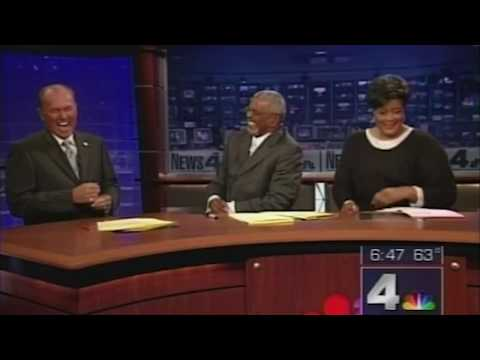 News Anchors Can't Stop Laughing At Falling Model