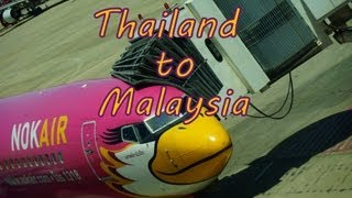 Border Crossing from Thailand to Malaysia | Flight with Nok Air to Hat Yai and a bus to Penang