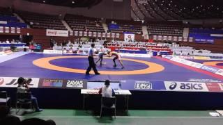 2016明治杯 男子フリースタイル57kg 決勝戦 中村倫也○[Tフォール、1:4...