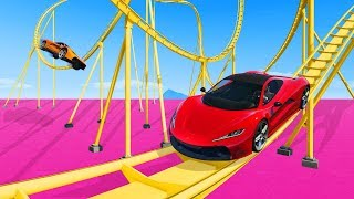 MOST EXTREME SUPERCAR ROLLERCOASTER! - GTA 5 Funny Moments