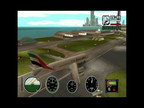 Emirates flight from San Andreas to Vice City