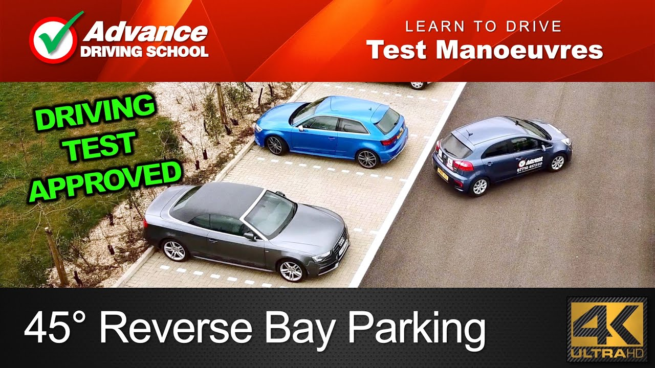 45 Reverse Bay Parking Manoeuvre 2019 Uk Driving Test Youtube