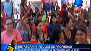 Entregan 71 títulos de propiedad a familias reubicadas en Yaracuy tras tragedia de Vargas en 1999