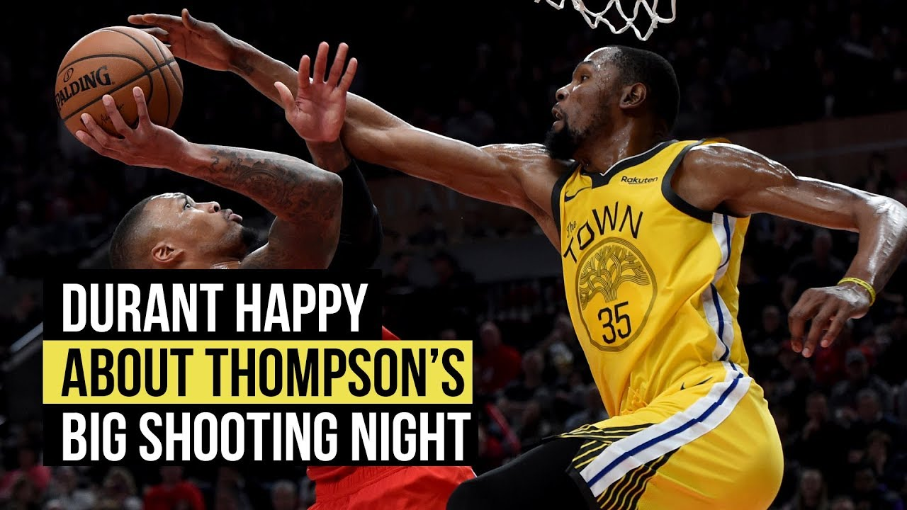 Kevin Durant comments on Klay Thompson's big night