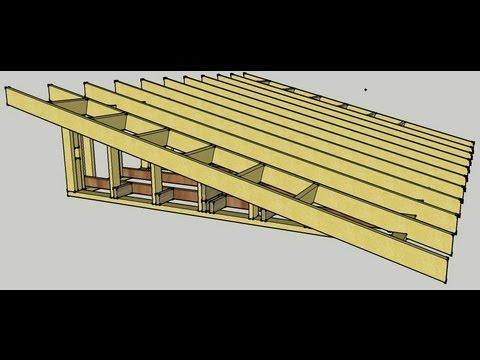 Skillion Roof erection Procedure - YouTube
