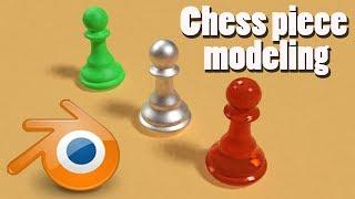 blender tutorial: 3d chess pawn modeling in blender 2.9 very easy