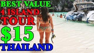HONG ISLAND THAILAND LONG BOAT 4 ISLAND TOUR | Krabi Thailand