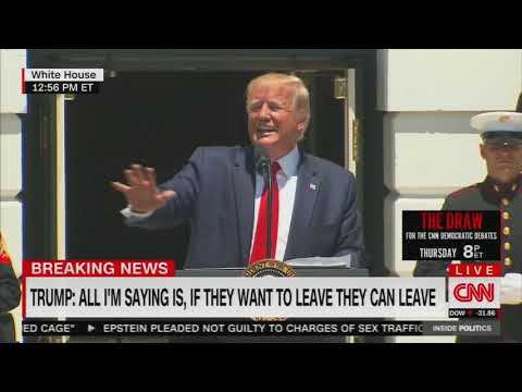 WATCH: Trump again blasts liberal members: 'If you're not happy, you can leave'