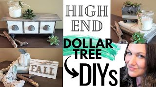 HIGH END DOLLAR TREE DIYS 🌻 DOLLAR TREE FALL HOME DECOR DIYS | NEW