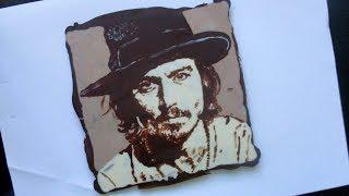 шоколадный портрет своими руками - оригинальный подарок!