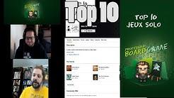 Top 10 - Jeux solo