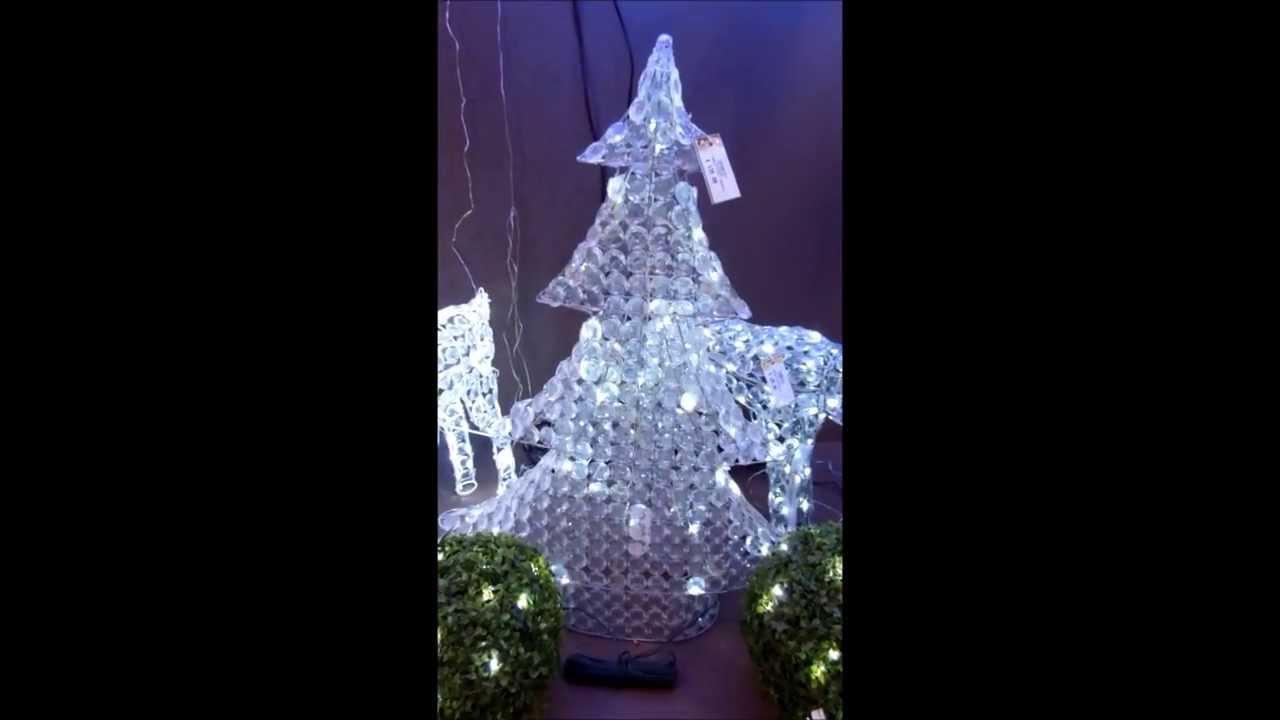 Albero di natale led 90cm 8 giochi di luce per decorazioni for Youtube decorazioni natalizie