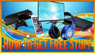 HOW TO GET FREE STUFF, FREE XBOX ONE, FREE PS4, FREE IPHONE, FREE IPAD, EASY AND SIMPLE