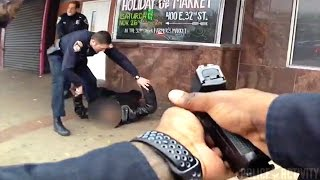 bodycam shows cops shooting man armed with two knives