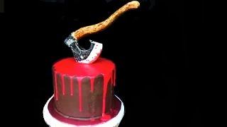 Торт на Хэллоуин. Украшение тортов видео. Как украсить торт. Украшение домашнего торта
