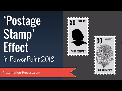 Postage stamp effect in PowerPoint 2013