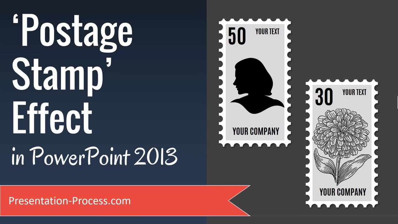 postage stamp effect in powerpoint 2013 - youtube, Powerpoint templates