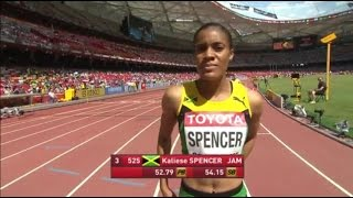 Kaliese Spencer Wins Women