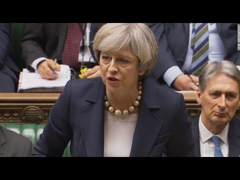 theresa-may-he-can-lead-protest-,-i'm-leading-a-country---brexit-,trump-state-visit-discussed