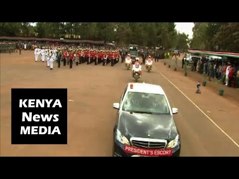 Uhuru Kenyatta ARRIVAL At The KDF PASS OUT PARADE In Eldoret 2018!!!