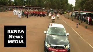 Uhuru Kenyatta ARRIVAL at the KDF PASS OUT PARADE in Eldoret 2018!!!