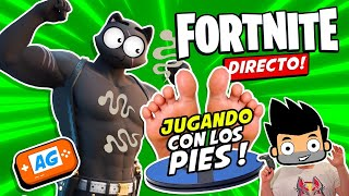 👣 Jugando con los PIES a FORTNITE con 3dRudder de PlayStation | Abrelo Game PS4