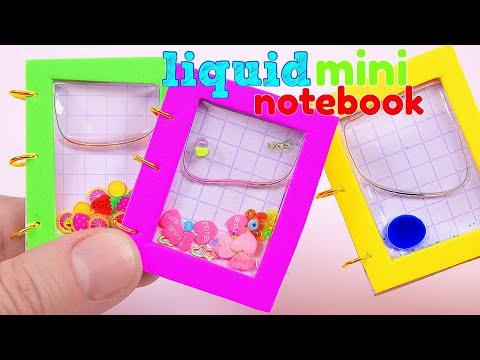 DIY Miniature LIQUID Notebook / DIY HAZ MINI LIBRETAS LÍQUIDAS
