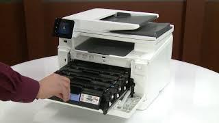 آموزش نحوه تعویض کارتریج لیزری رنگی اچ پی HP 201A