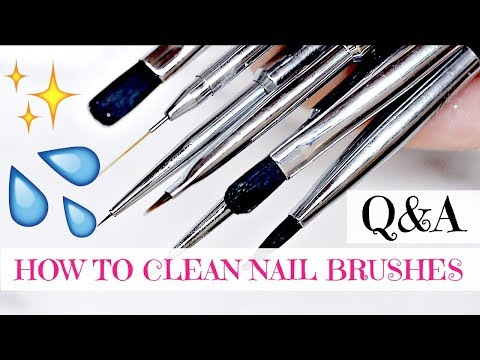 Q&A | HOW TO CLEAN YOUR GEL BRUSHES AND NAIL ART BRUSHES