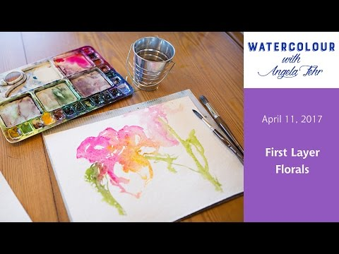 Live Watercolour Lesson with Angela Fehr: First Layer Flowers