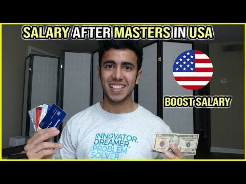 Salary After Masters In USA | How To Increase Your Salary?