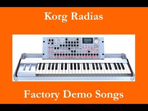Korg Radias - Démos internes - Factory Demo Songs