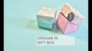 ORIGAMI- Box (Type2)  如何摺盒子 (有蓋)