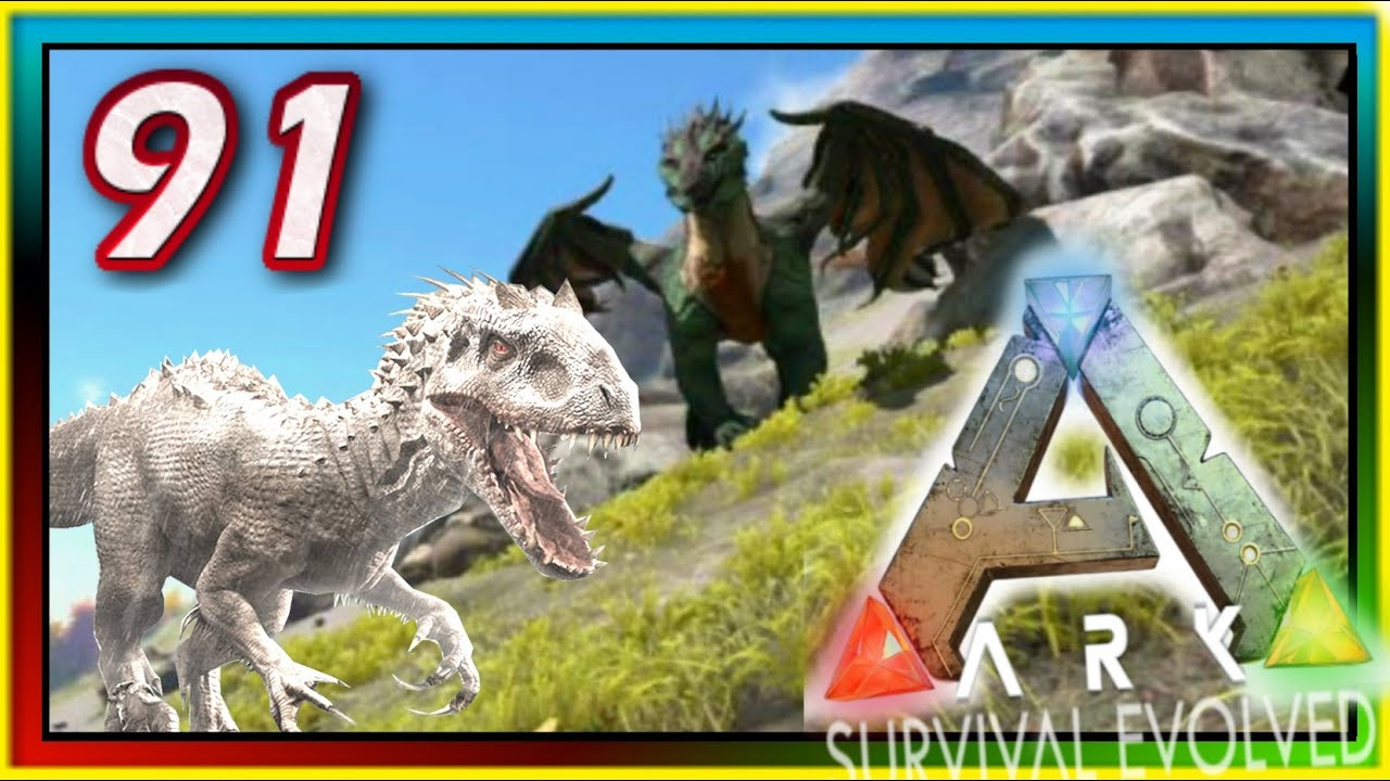 ARK: Survival Evolved - ALBINO GIGANOTOSAURUS / INDOMINUS ...