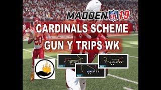 Madden 19 FREE SCHEME ARIZONA CARDINALS - PART 1 - GUN Y TRIPS WK