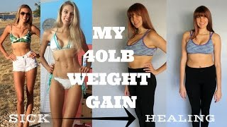 I'VE GAINED 40LBS //HOW TO DEAL WITH WEIGHT GAIN// EATING DISORDER RECOVERY