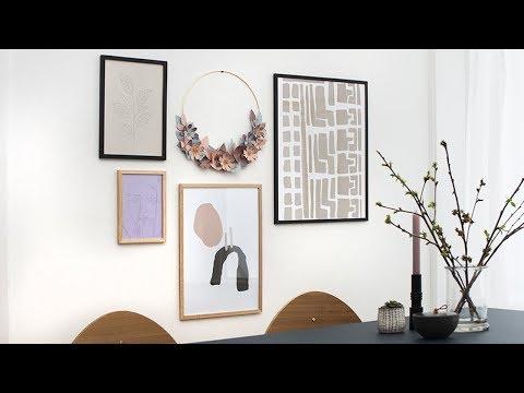 DIY : Template: Paper wreath  by Søstrene Grene