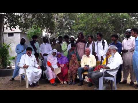 Dr Gholam Mujtaba at Gharo Sindh with newly converted Muslims.Part 2