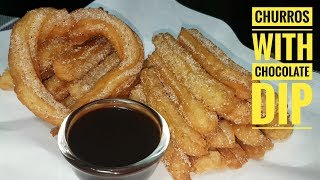 Churros with Chocolate dip (fried dessert)
