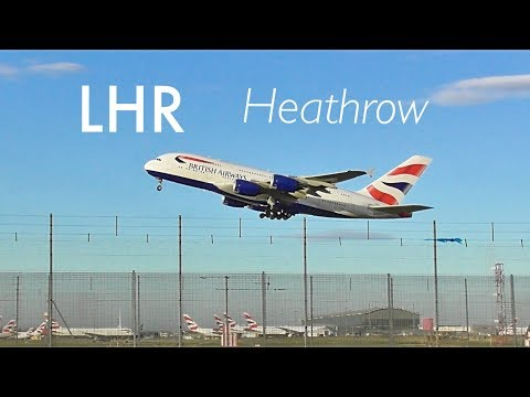 Plane Spotting 'Late Afternoon Takeoffs Compilation' RW27L, London Heathrow (LHR)