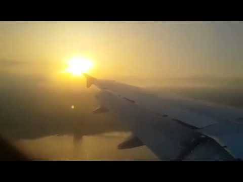 Middle East Airlines A320 smooth sunrise landing in Beirut (Lebanon)