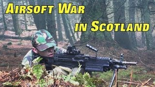 Airsoft War M249, L86, Section8 Scotland HD